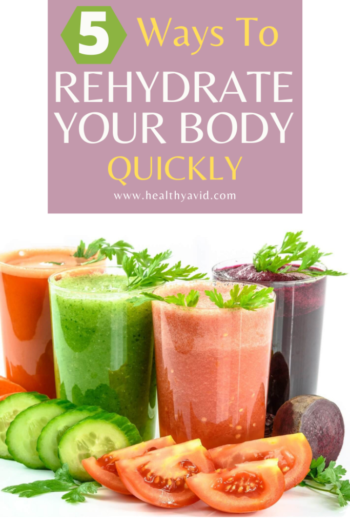 rehydrate your body quickly Pinterest